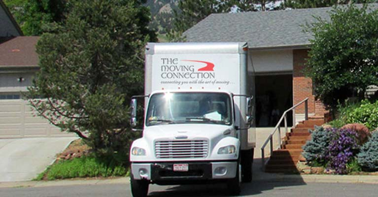 Moving Connection truck on site in Boulder